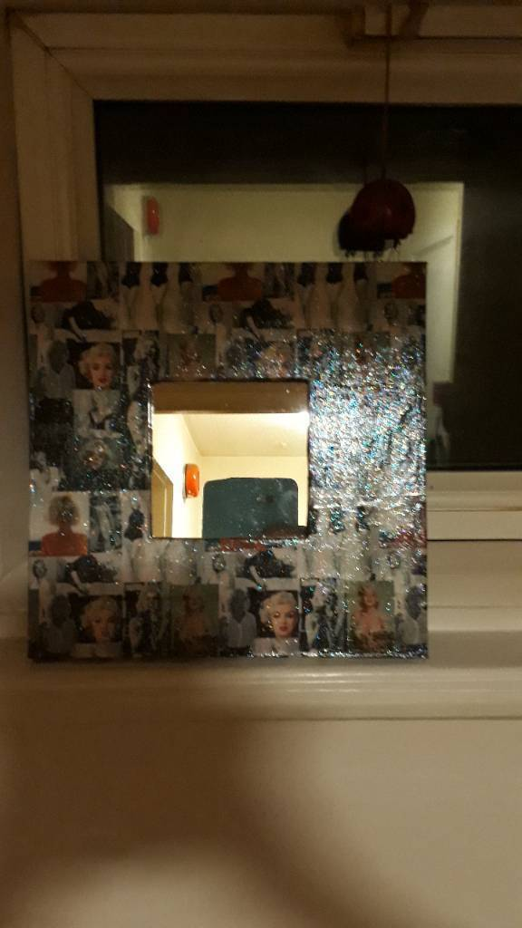 marolyn monroe mirror decopage