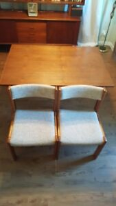 2 Mid Century Danish Teak Dining Chairs - FREE DELIVERY