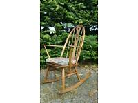 Ercol Swan Back Rocking Chair Rocker in Golden Dawn.