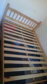 Solid Pine Double Bed, very good condition