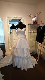 Beautiful selection of ex display designer wedding dresses mostly small sizesmall sizes