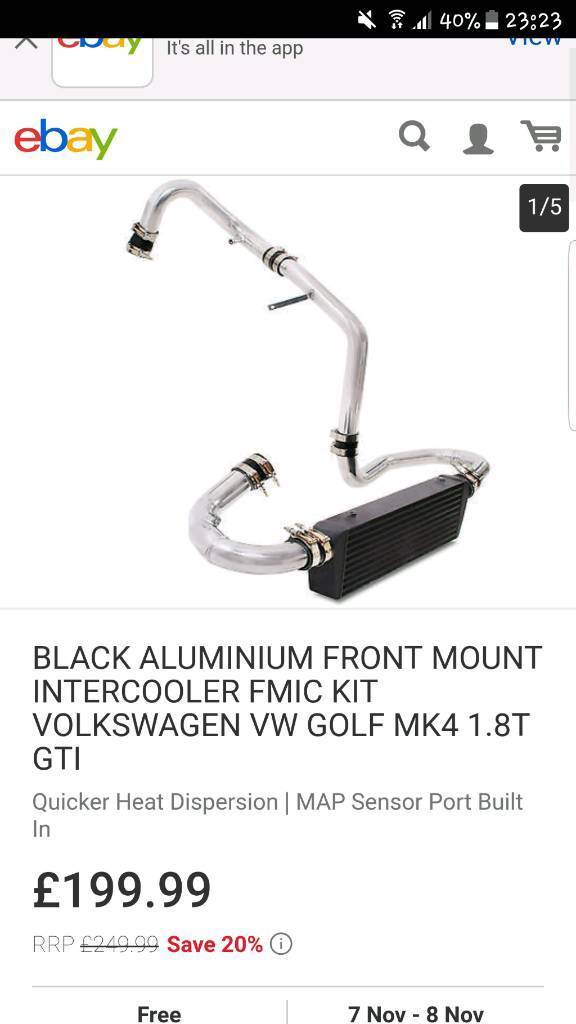Mk golf tdi intercooler brand new