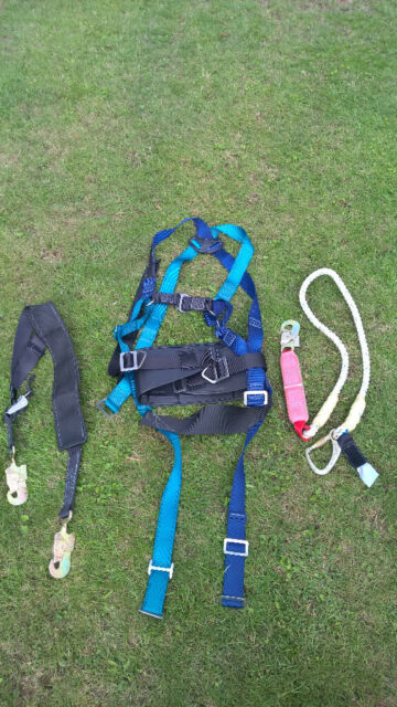 Safety Harness, Full Body Fall Protection Harness with adjustable lanyard  and fall rope | in Coxheath, Kent | Gumtree