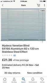 New aluminium blinds 84cm long
