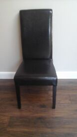 6 Rollback leather chairs brown