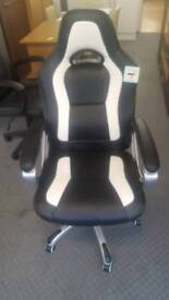 Large office leather chair black and white