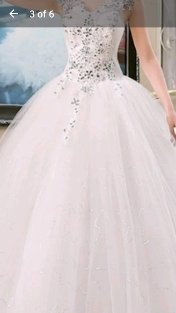 Crystal vintage wedding dress