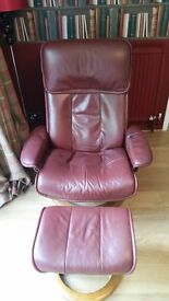 Stressless Reclining Chair (Large) with Matching Footstool