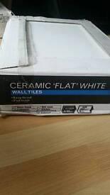 Ceramic flat white tiles