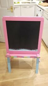 child artist easel chalk board and white board