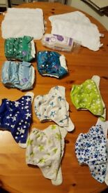 Birth to potty reusable nappies, inserts and liners