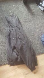 Mens coat size large black slight pattern