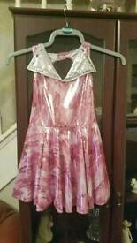 Lovely sparkly dance costume approx age 7-10 with matching hat