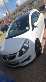 Limited edition white corsa with Bluetooth radio and hands free
