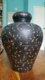 Vintage large metal vase/pot