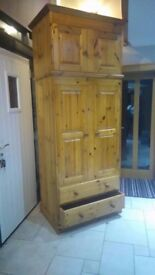 Beautiful handcrafted solid pine wardrobe.