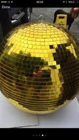 """Disco Ball 20"""" glitter ball gold"""