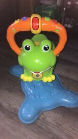 Children's bounce and discover frog