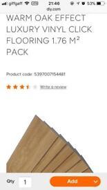 16 packs of warm oak effect luxury click vinyl flooring