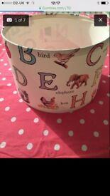 Vintage style childrens alphabet lampshade.nursery furniture.apple,bird,elephant,lighthouse,cake!,