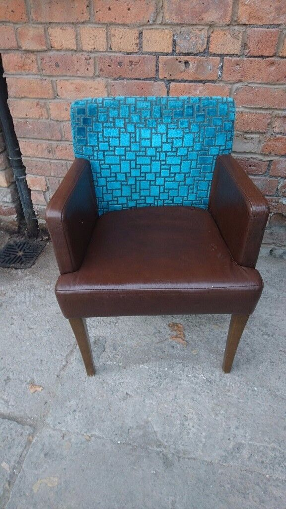 Teal /Brown retro occasional chair