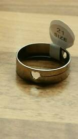 unisex stainless steel ring
