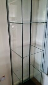 Ikea Detolf Glass Shelf Display Cabinet