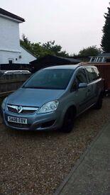 Vauxhall zafira 7 seater good all round car average milage no longer need 7 seats mot till march