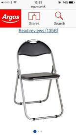 Black Padded Foldable chair