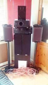 Home cinema surround system