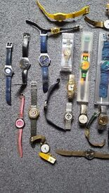 Swatch retro wristwatch collection