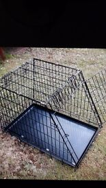 Folding Dog crate suitable to use in the car - SOLD SUBJECT TO PICK UP