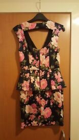 Floral Party Dress, Size 10, New Look