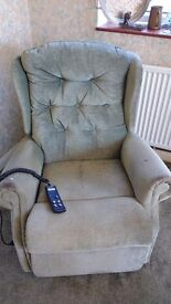 Fully functioning electric recliner armchair (celebrity)
