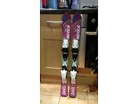 Ski Nevica 90cm + ski shoes 10uk kids