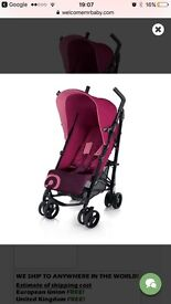 Concord Quix Candy Pink Stroller Great Condition