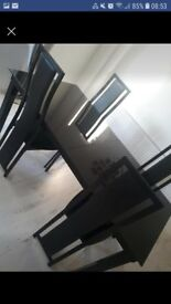 Beautiful table and 4 chairs black