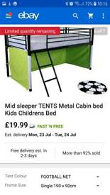 Mid sleeper football bed tent