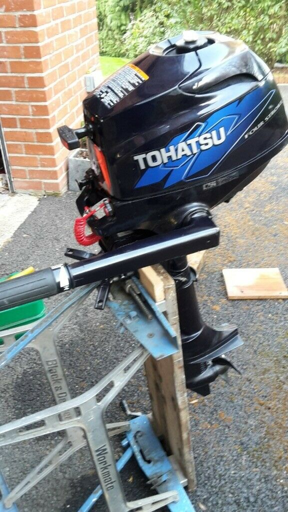 Tohatsu 3 5hp 4 stroke outboard motor (similar to Mercury and Mariner) | in  Petersfield, Hampshire | Gumtree