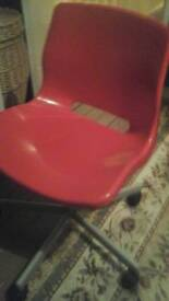 Red chair used