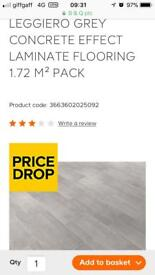 14 packs of grey concrete effect laminate