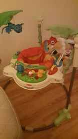 Jumperoo only used a few times. Perfect working order. Oy getting rid as my baby is on her feet