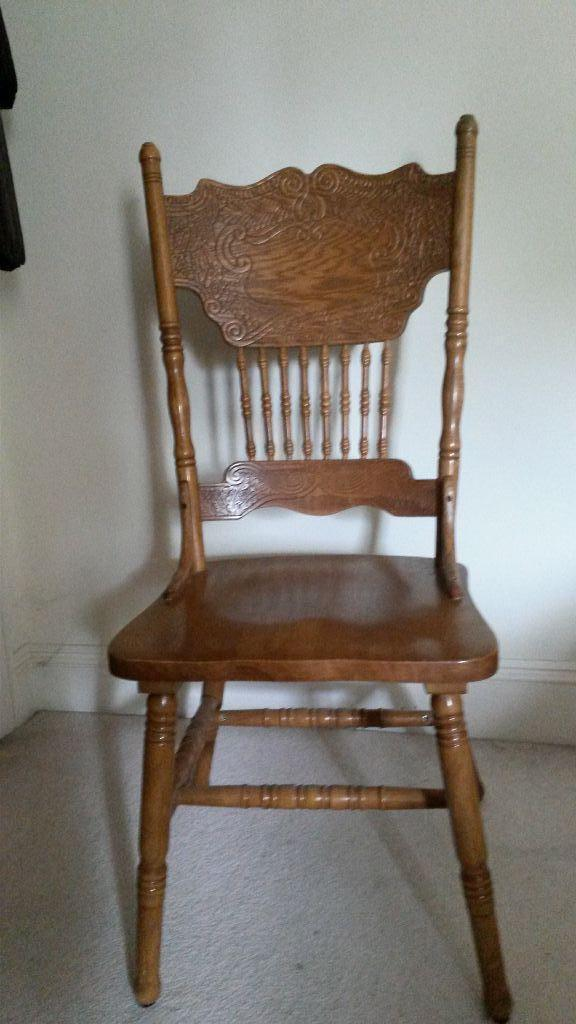 Set Of 4 Wooden Dining Chairs In Wimborne Dorset Gumtree
