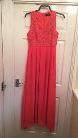 Full Length AX Paris Coral Dress