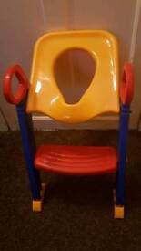 Toilet ladder step seat potty training toddler