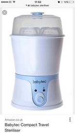 Baby travel steriliser