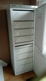 Upright freezer 200 litre capacity freezer in both compartments