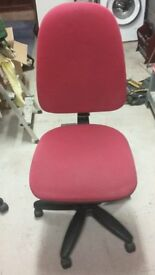 Red office swivel chair for sale