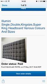 Brand new 5ft Kingsize Headboard (mink) colour