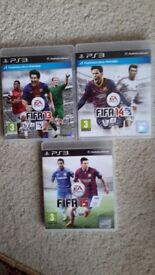 PS 3 FIFA Games 13, 14, 15, complete cases & booklets, Plymstock area, buy before 24th Jan' > gone.